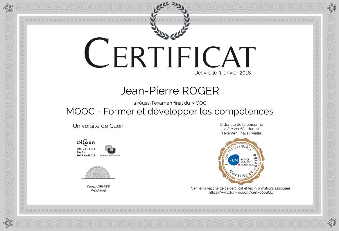 Certificat mooc